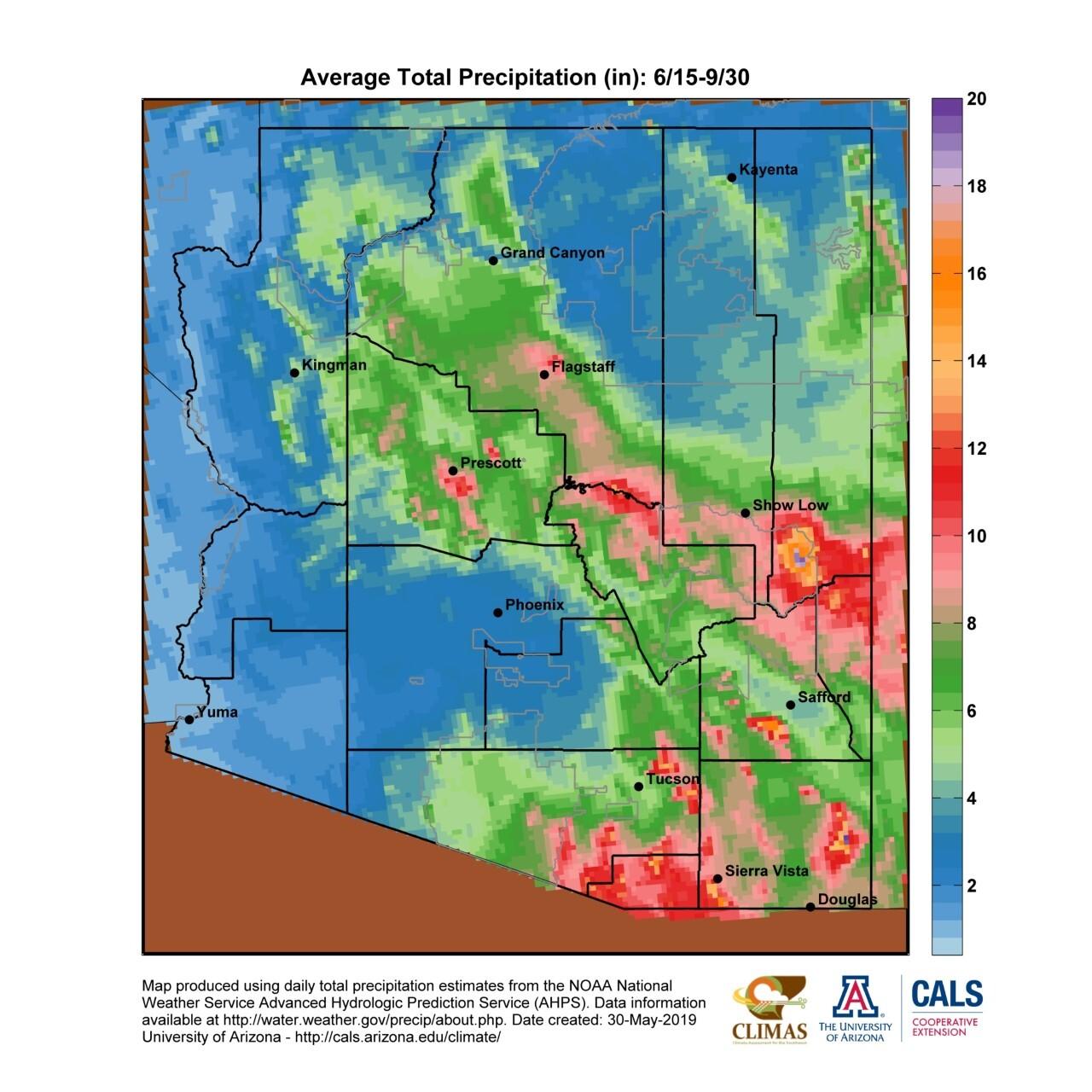 Average Total Precipitation