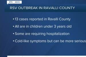 RSV cases reported in Ravalli County