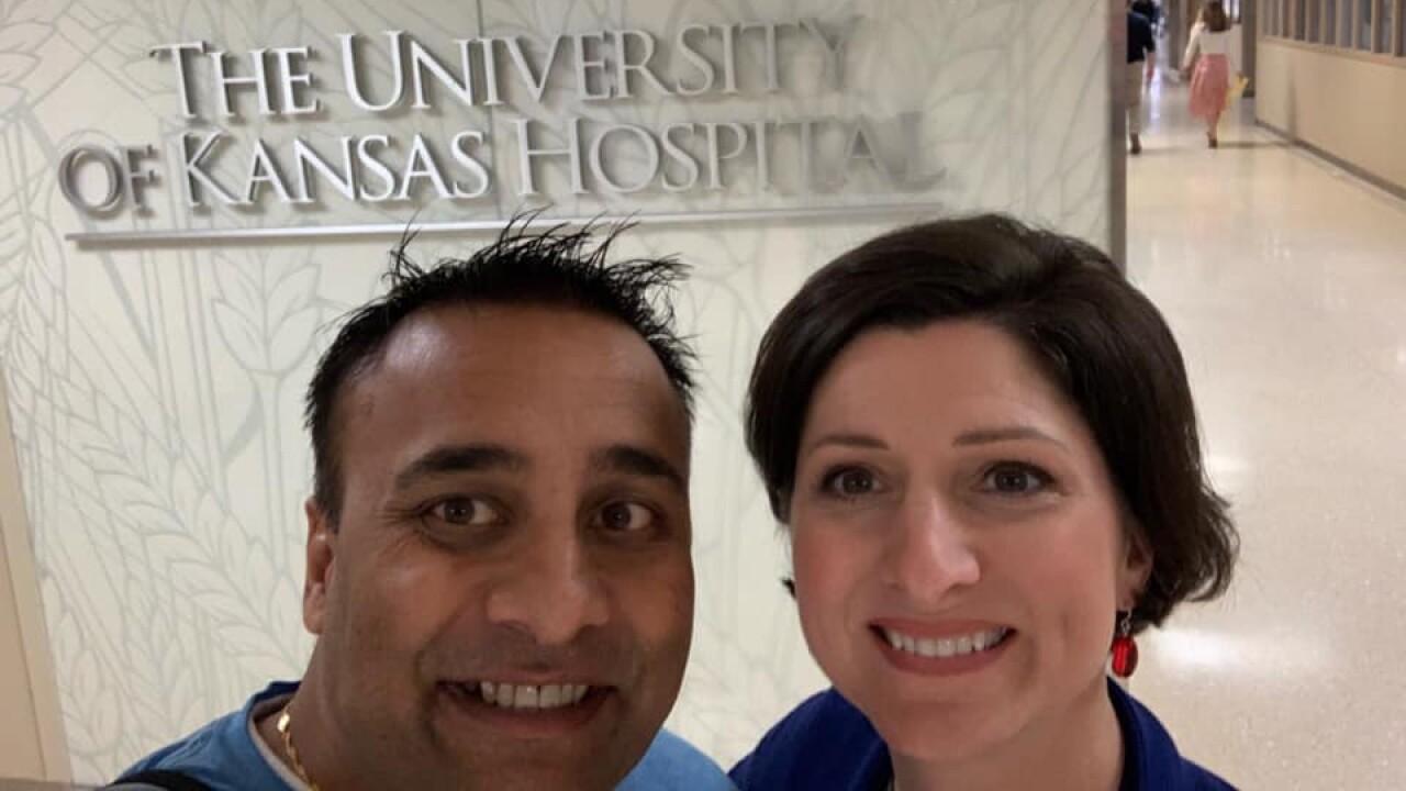 Abhi and Anna Singh KU Med.jpg