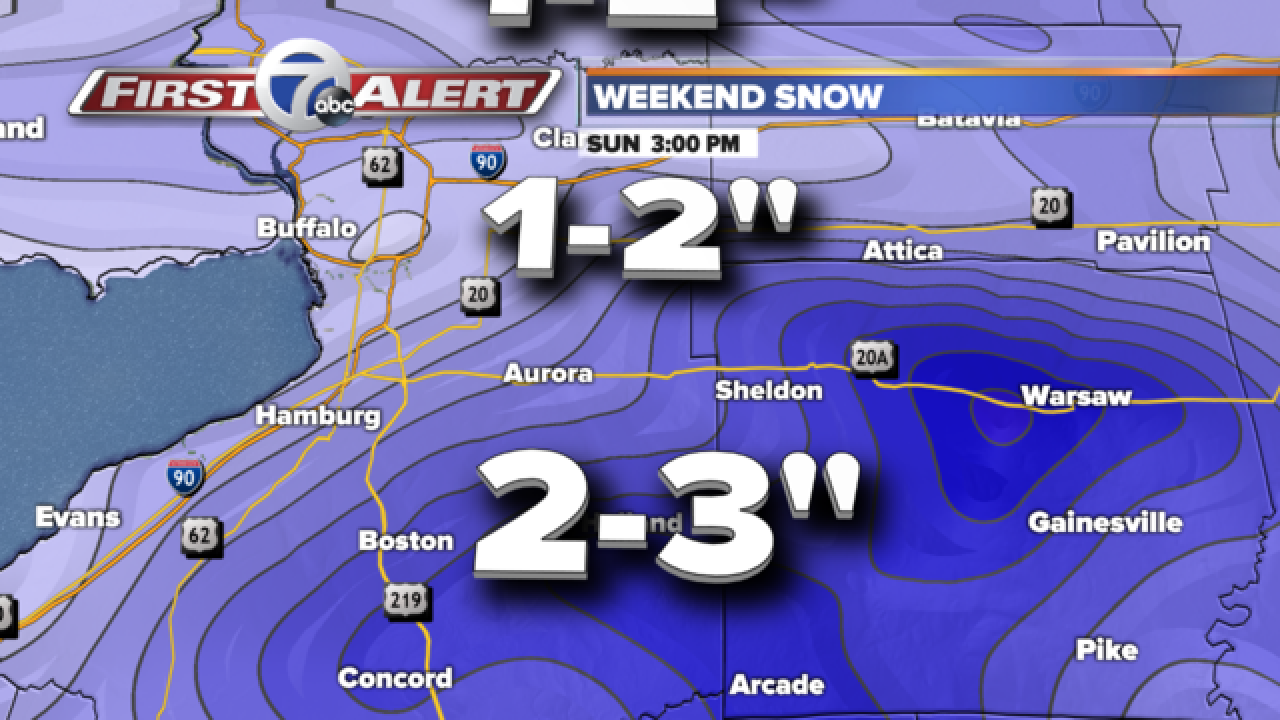 Wintry weekend on the way!