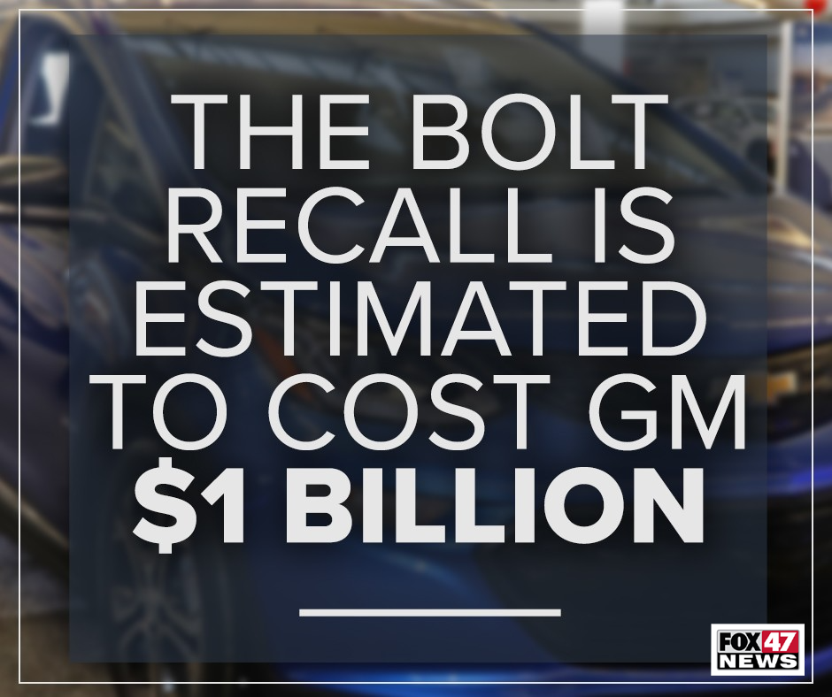 The Chevy Bolt EV recall is estimated to host GM $1 Billion