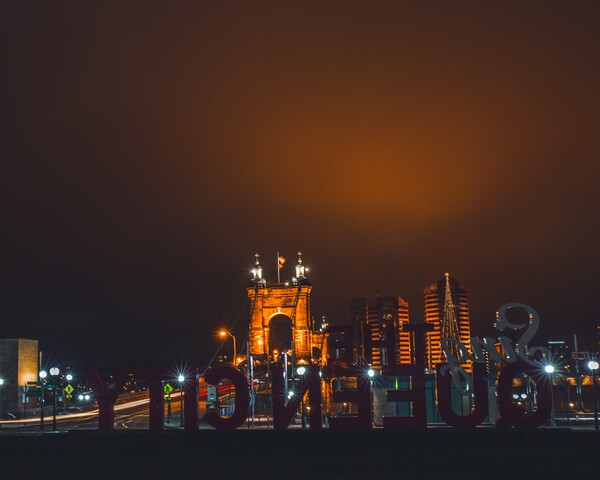 Cincygram: Fog blankets Downtown, creating unique sights of city lights