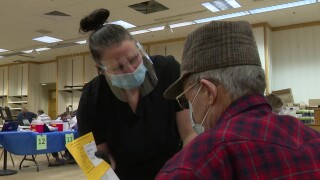 Military veterans get COVID vaccine in Great Falls