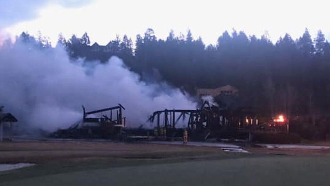 Fire destroys golf club in Bigfork