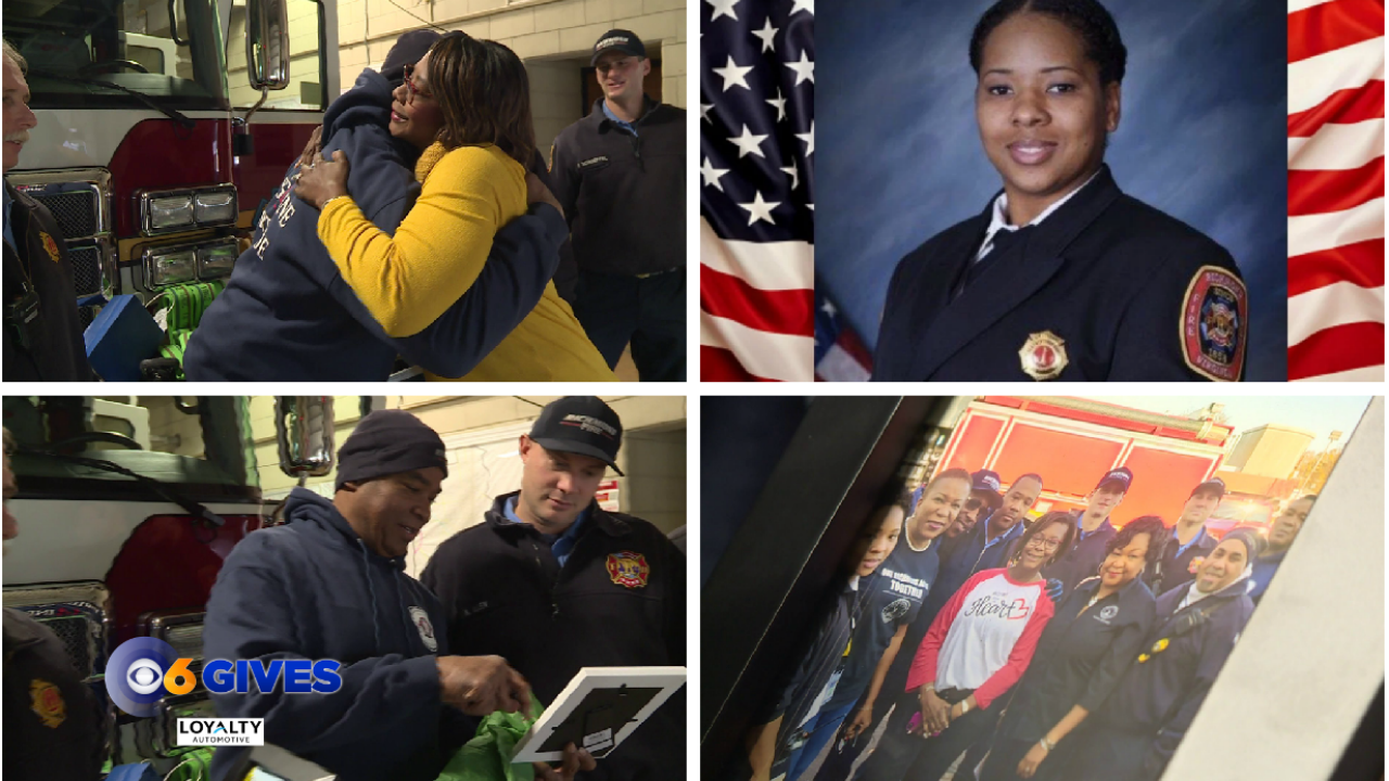 Shelby Brown honors Richmond firefighters who recently lost one of theirown