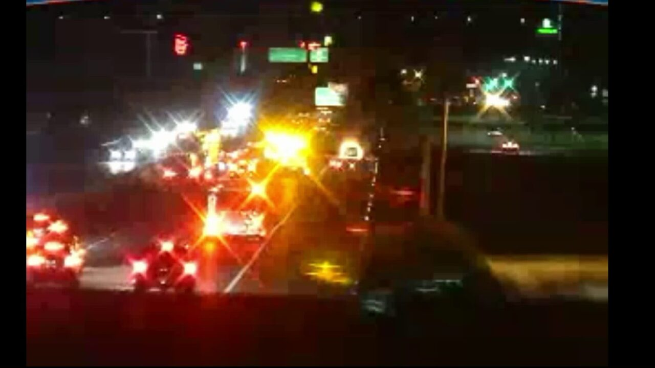 Vehicle fire along I-95 South causes trafficbackups