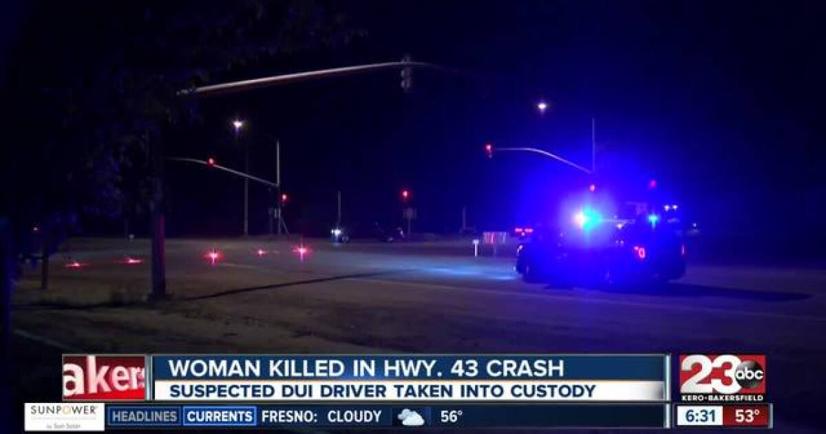 Suspected DUI driver in custody following crash that killed 41-year