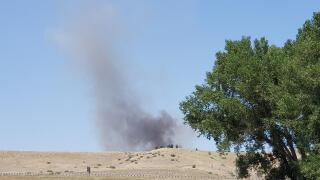 Exploding shooting targets start 6.5 acre fire near Columbus Sunday