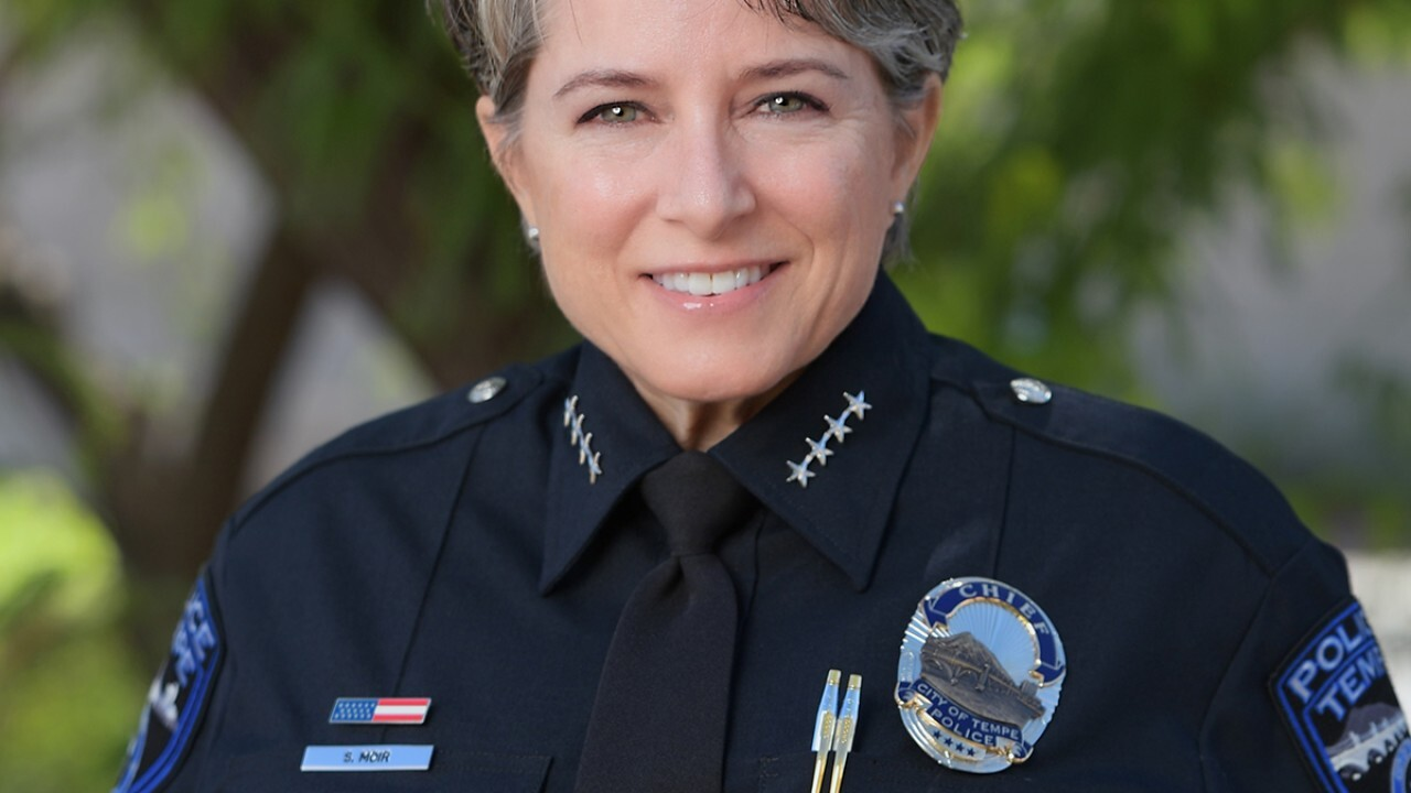 Tempe's first female police chief is stepping down next month after more than four years on the job.