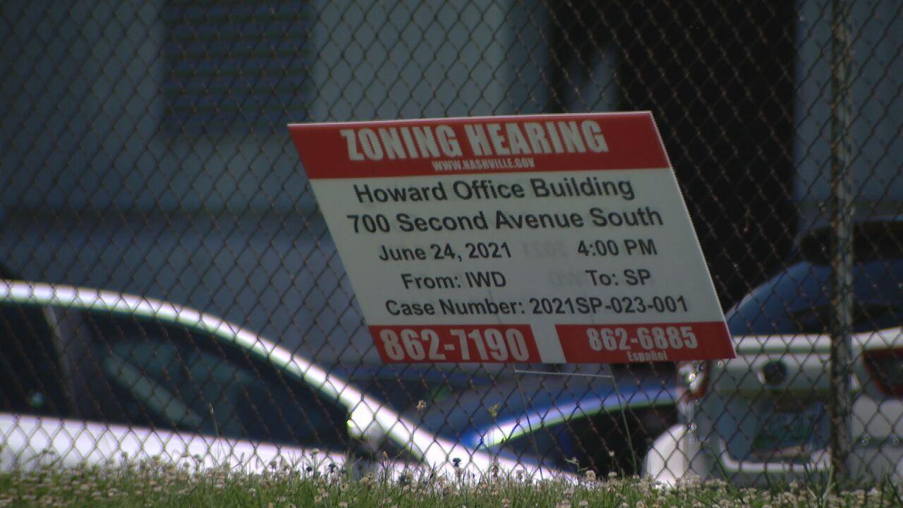 zoning hearing sign