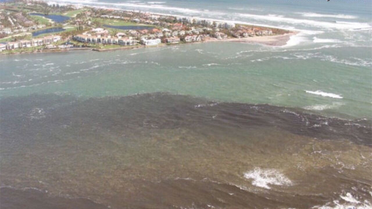 Aerial pictures show impact of Lake Okeechobee discharges