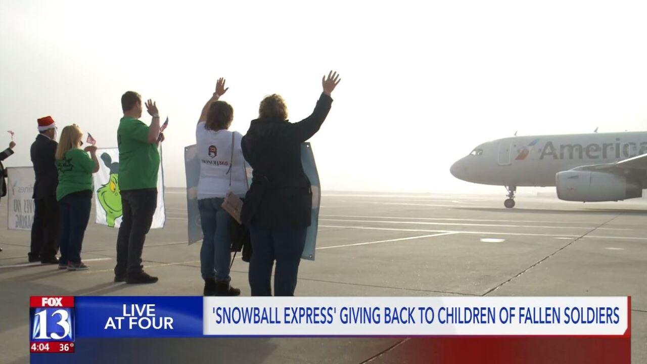 Gold Star families board 'Snowball Express' to DisneyWorld