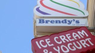 Brendy's Ice Cream & Yogurt closeup of sign