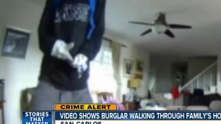 Video shows San Carlos burglary walking through home