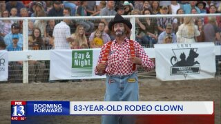 Booming Forward: 83-year-old rodeoclown