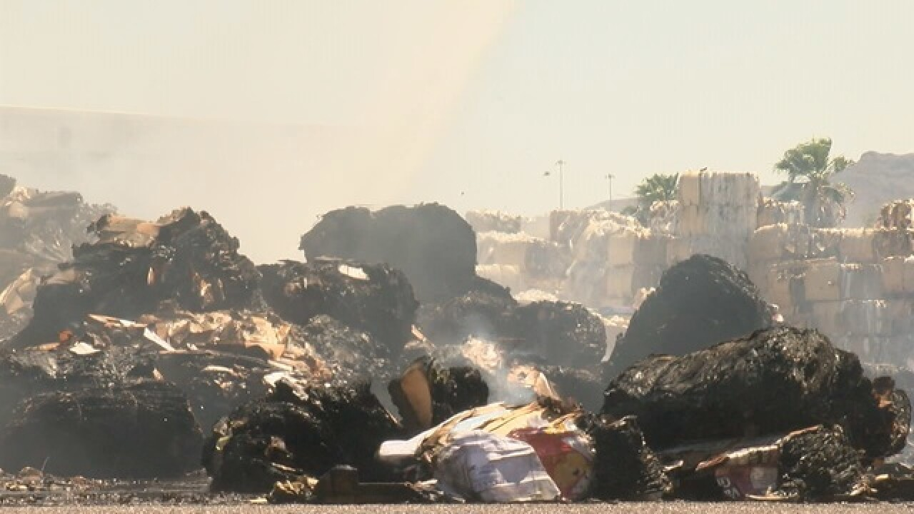 Recycling plant fire near Prince and I-10