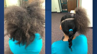 Grandview teacher hair students