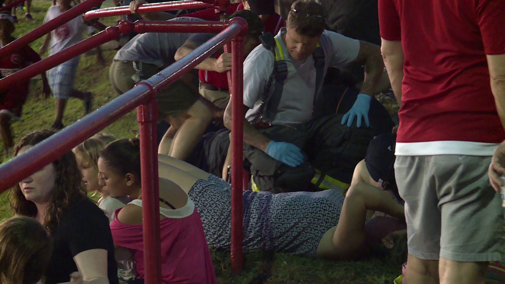 Photos: 2 fans pinned by car at Richmond Kickers game