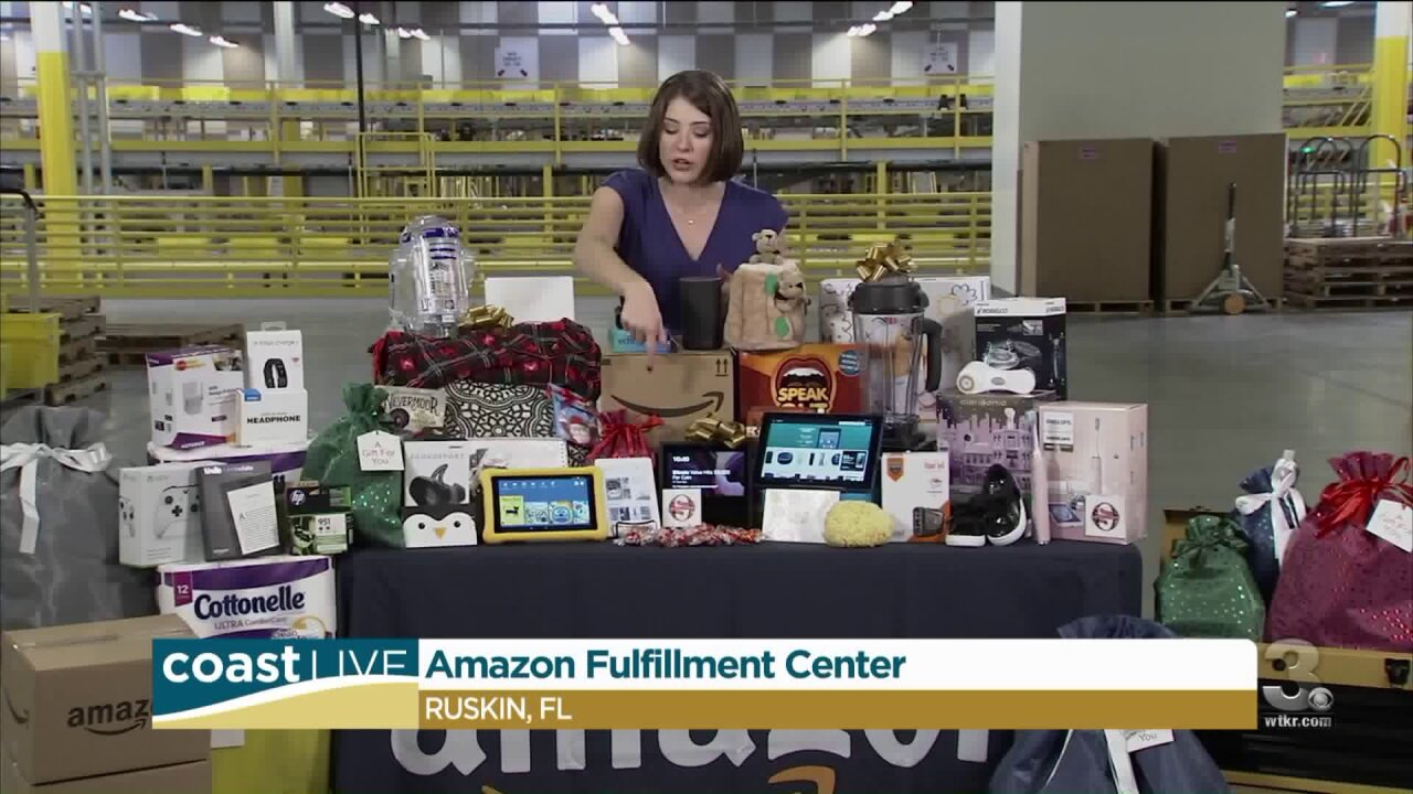 Amazon deals live from one of their distribution centers on CoastLive