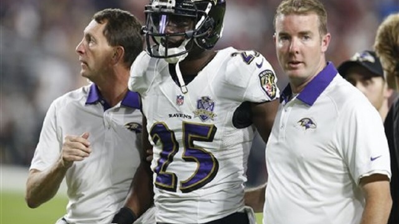 Ravens CB seriously injured in dirtbike crash