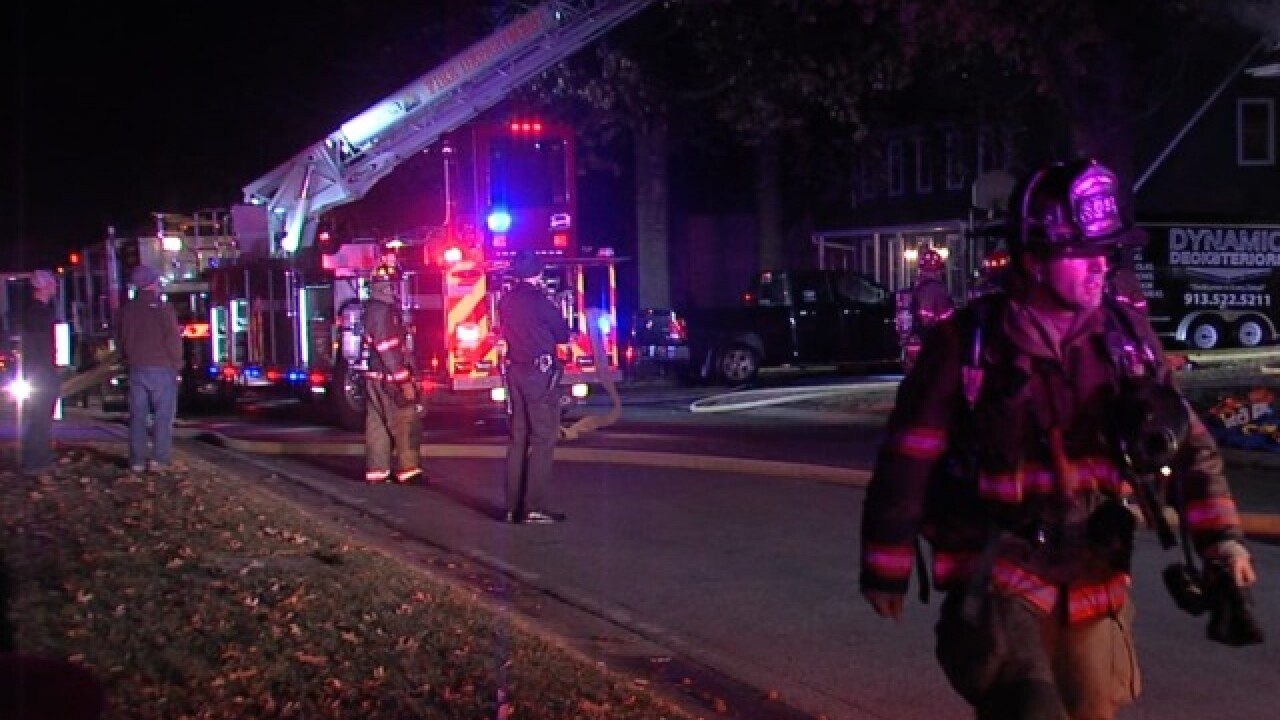 Two dogs rescued from Lenexa house fire