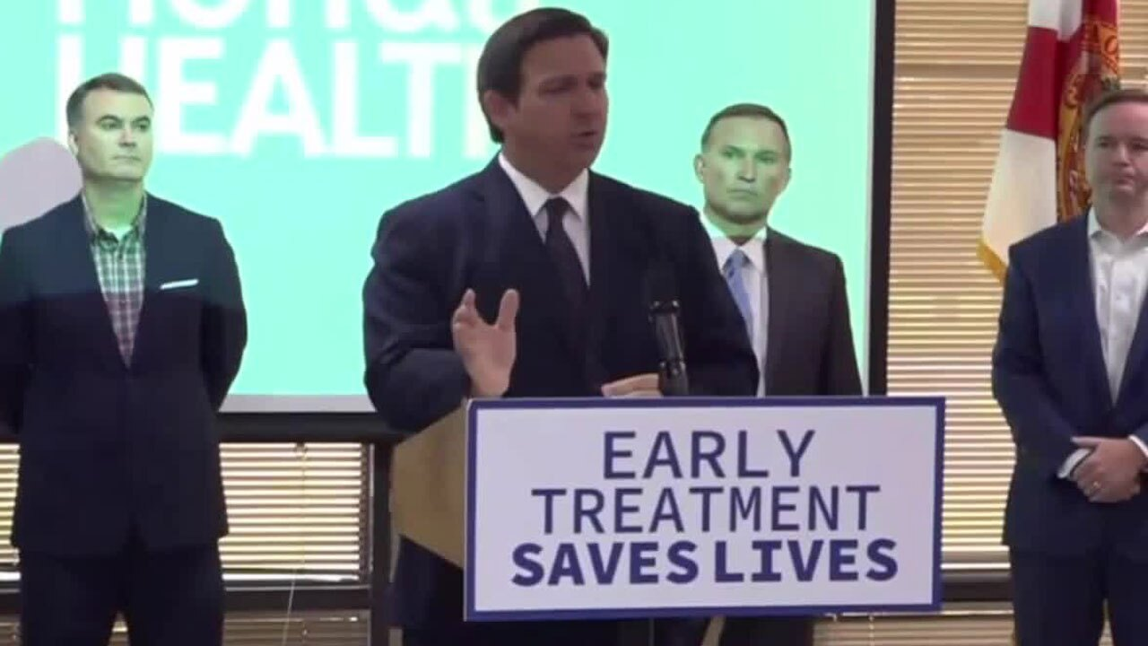 Gov. Ron DeSantis speaks about the possibility of appealing the school mask ruling, Aug. 30, 2021