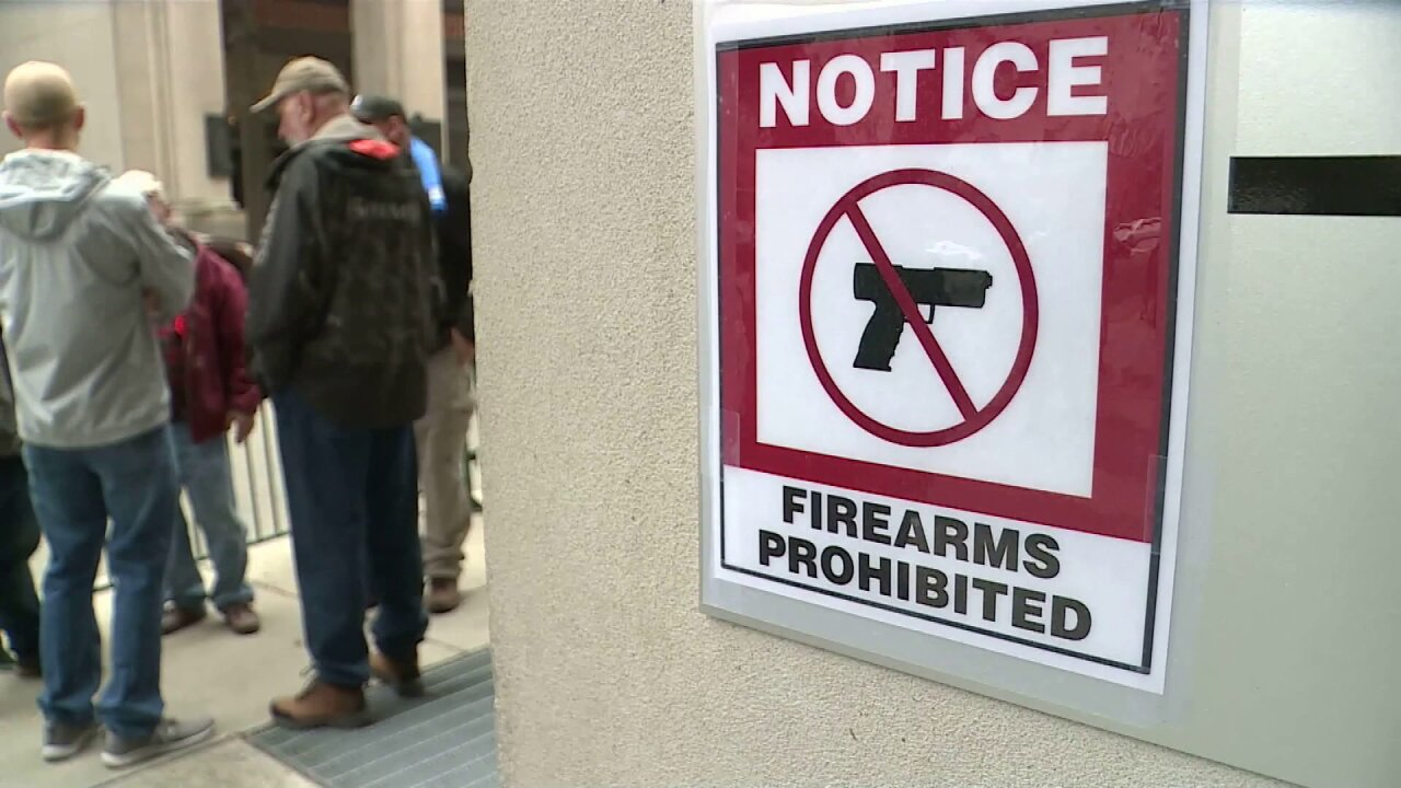 Hundreds of activists watch on as Senate committee advance gun controlbills
