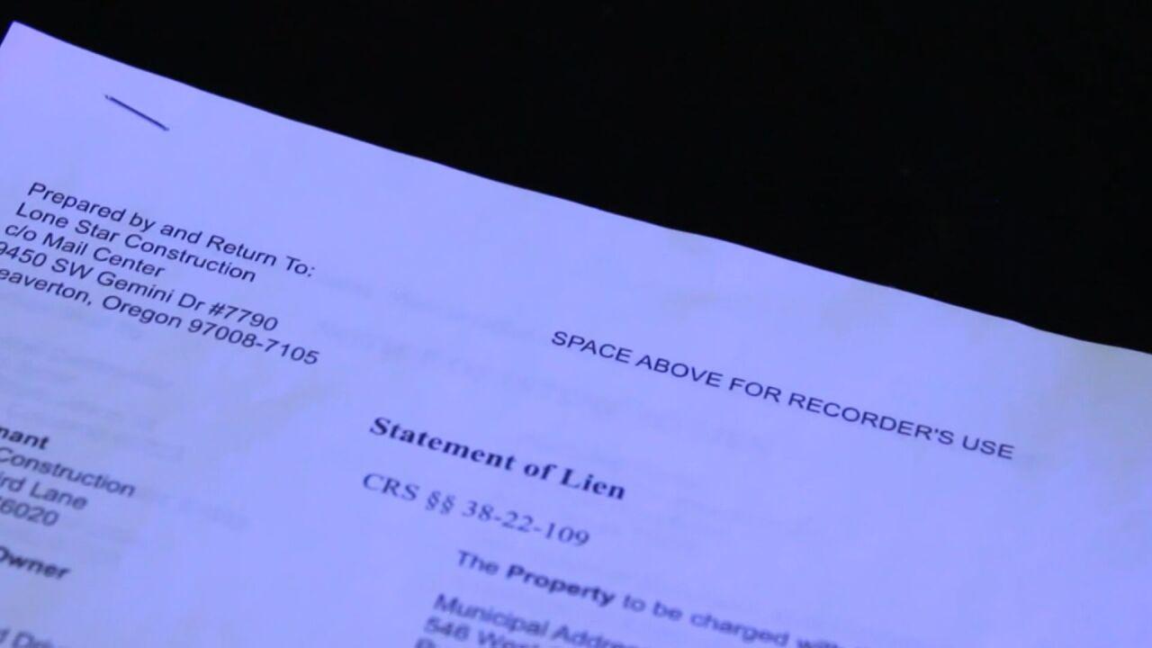 Lien paperwork