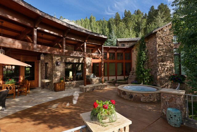 GALLERY: $13.5M Aspen home teeming with wood and stone, inside and out