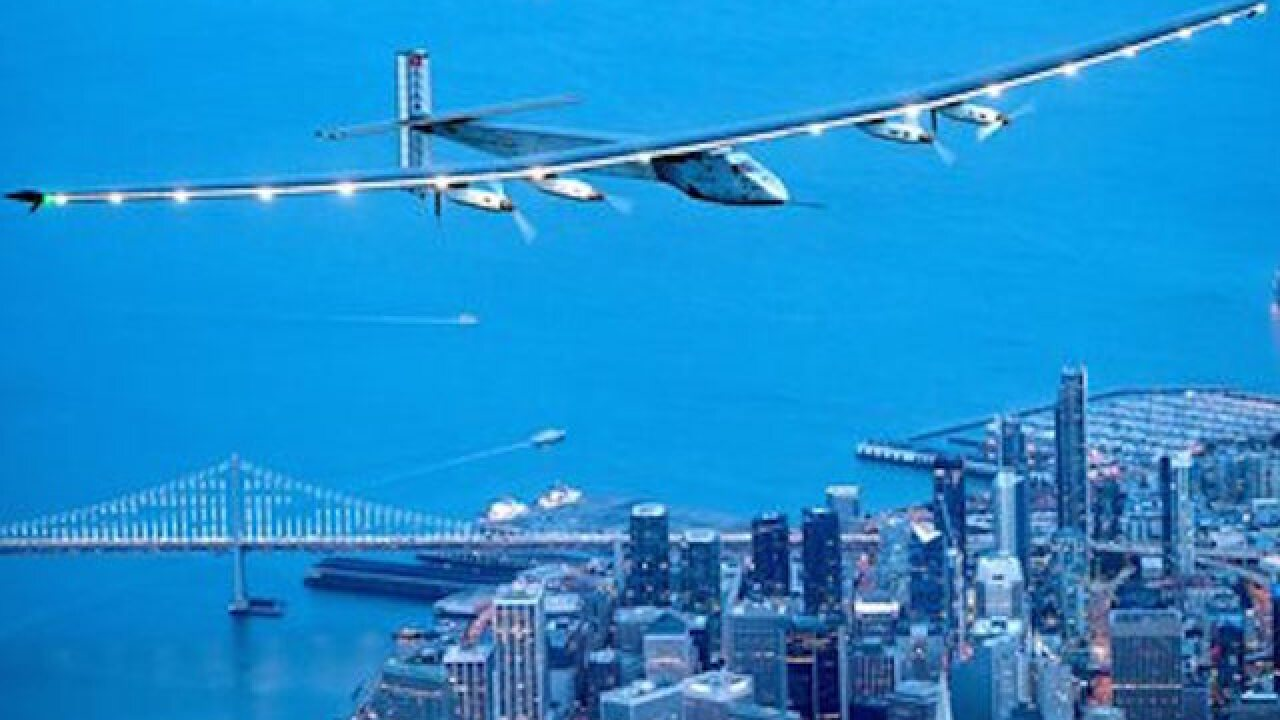Solar-powered plane lands in New York City