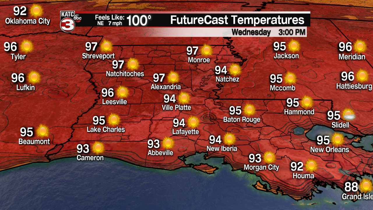 Late summer heat wave for Acadiana