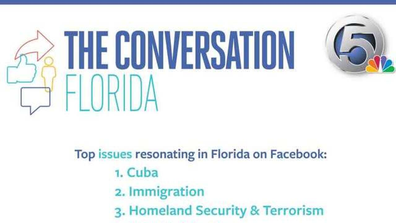 What are Florida voters saying on Facebook?
