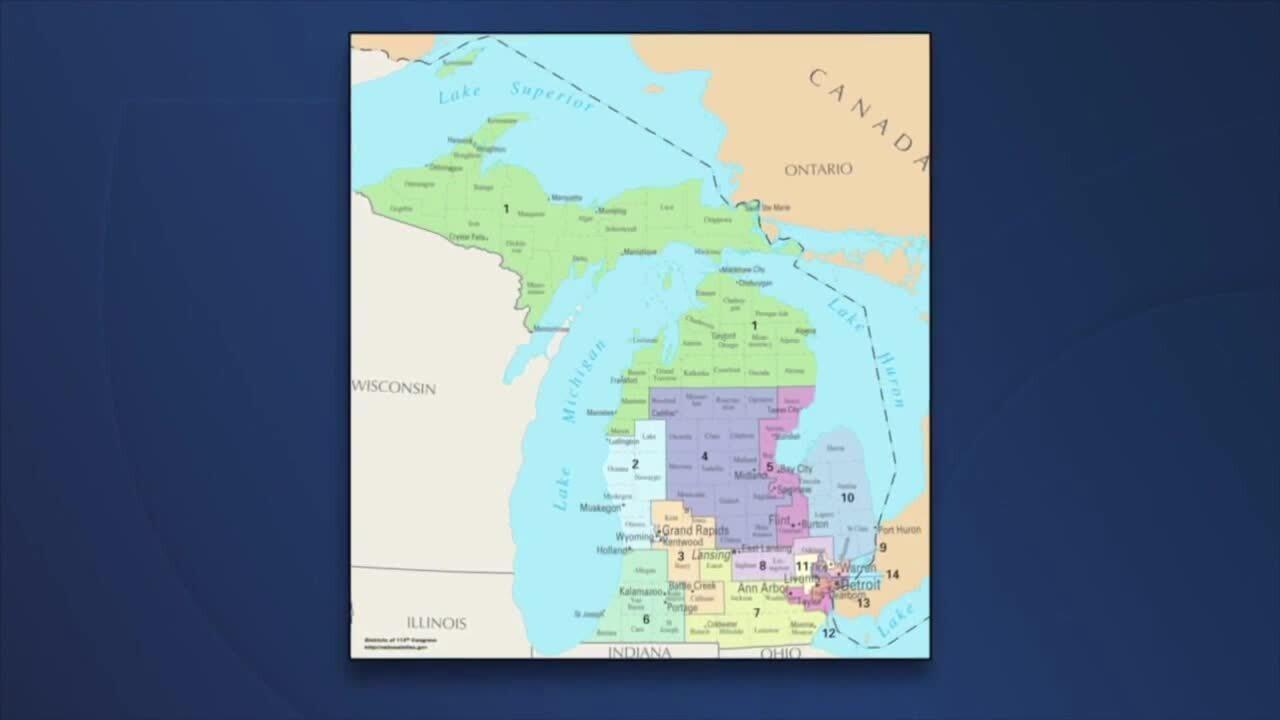 Current Michigan District Maps