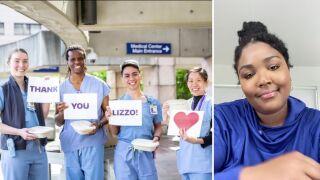 Lizzo treats Detroit hospital staff to lunc