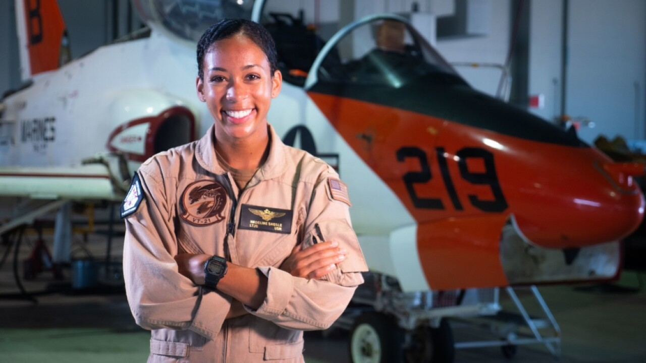 First Black female tactical Navy pilot gets 'Wings of Gold'