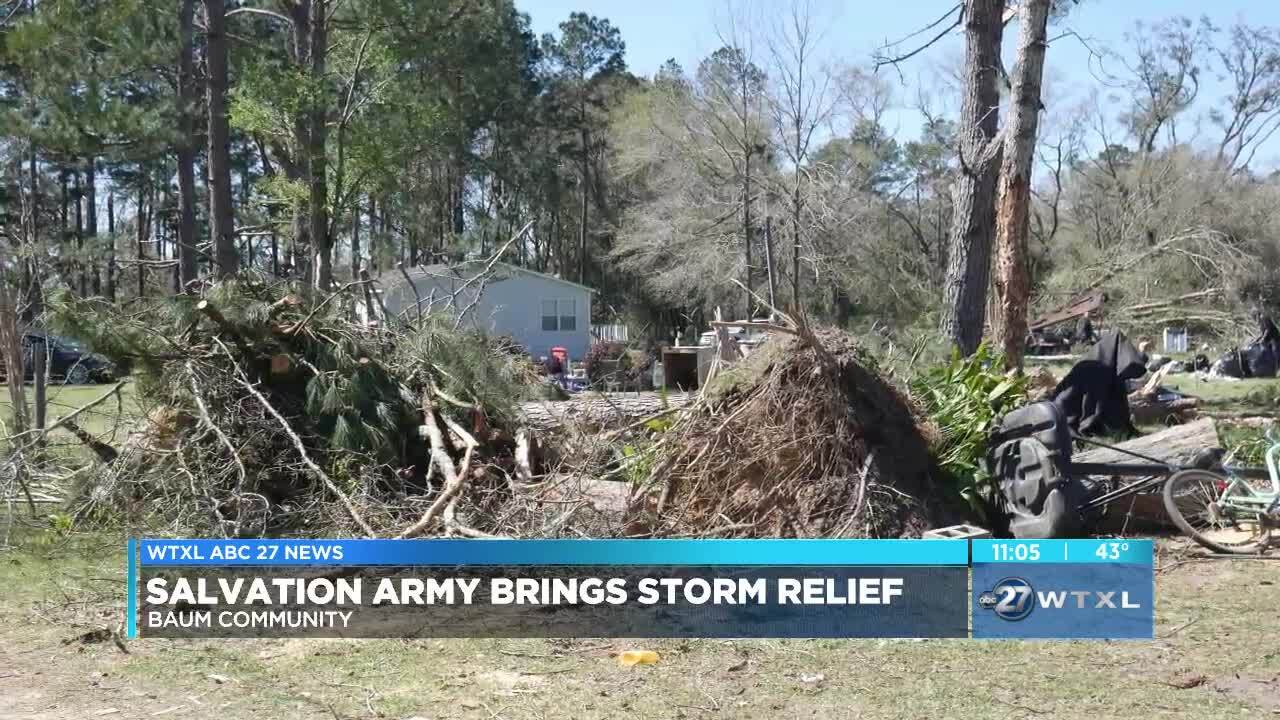 Salvation Army brings storm relief to Baum Community
