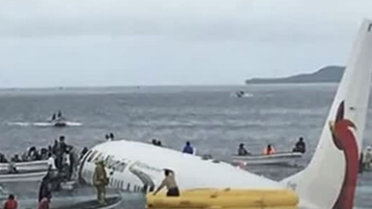 All passengers and crew survive Boeing 737 crash into the sea