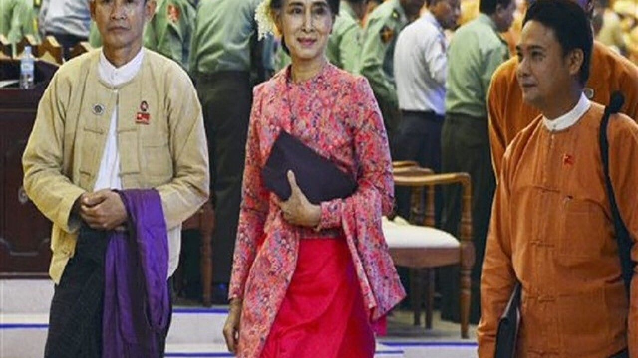 Suu Kyi will not be Myanmar's next president