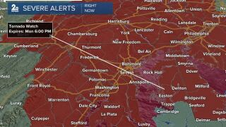 Tornado Watch until 6pm Monday
