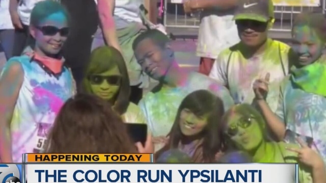 Color Run makes a splash in Ypsilanti