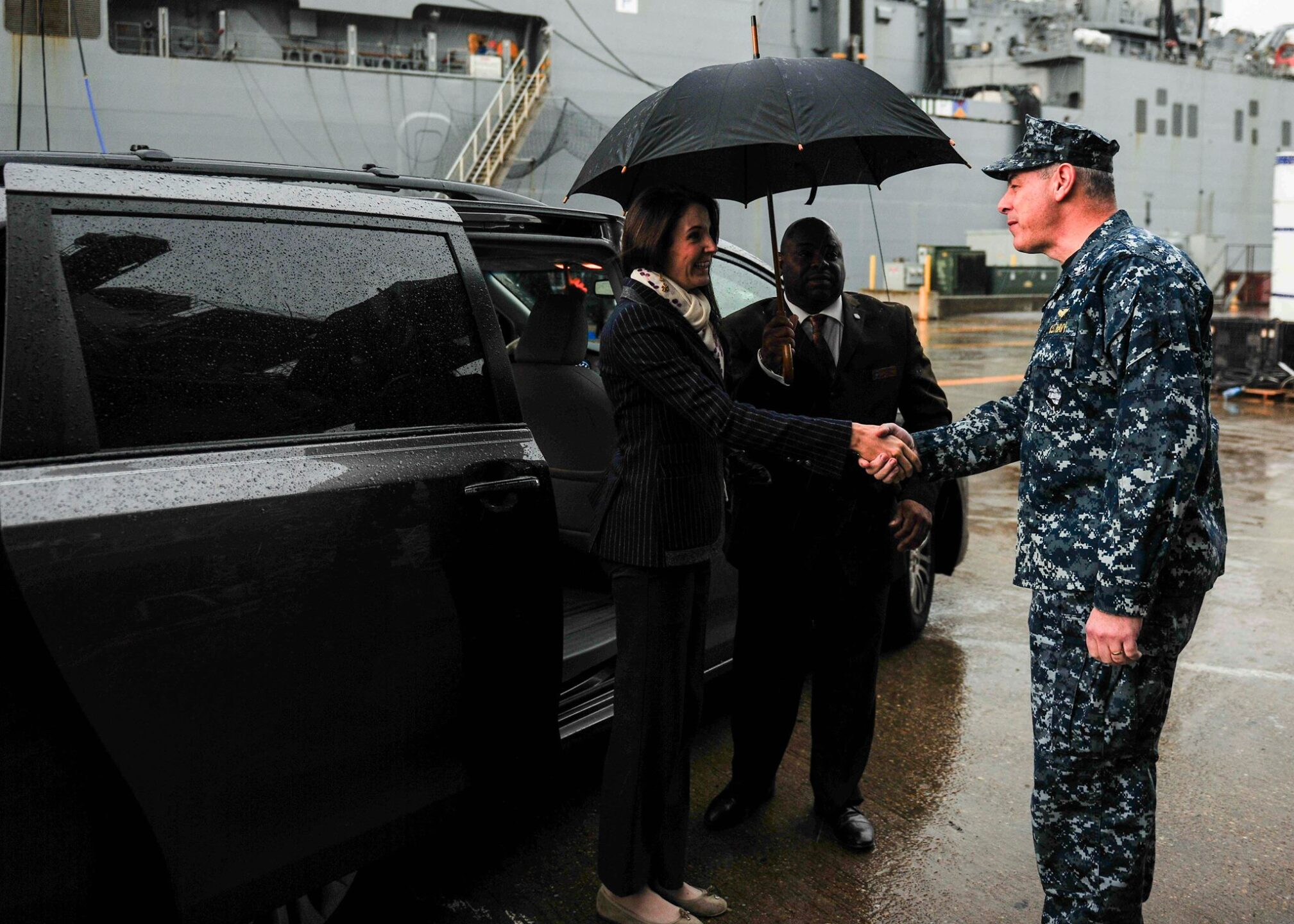Photos: Princess Tessy de Luxembourg tours the USS TheodoreRoosevelt