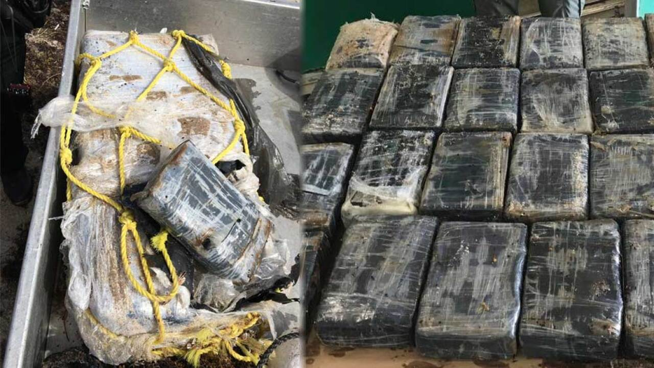 St. Lucie County deputies on March 20, 2019, found 57 pounds of cocaine floating in the water at Fort Pierce Inlet State Park on North A1A.