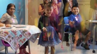 6-year-old celebrates her last cancer treatment at Florida children's hospital