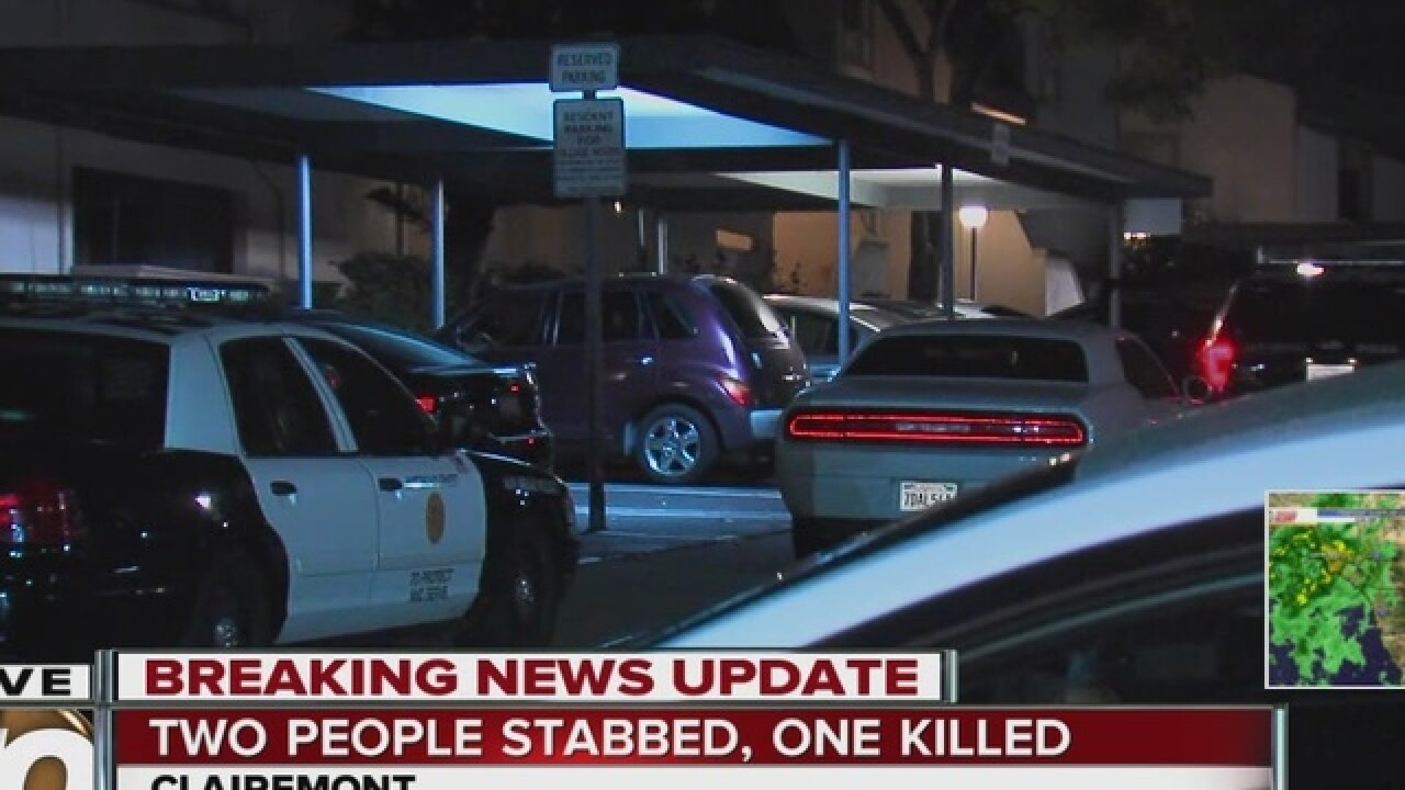 Couple in fatal Clairemont Mesa stabbing ID'ed