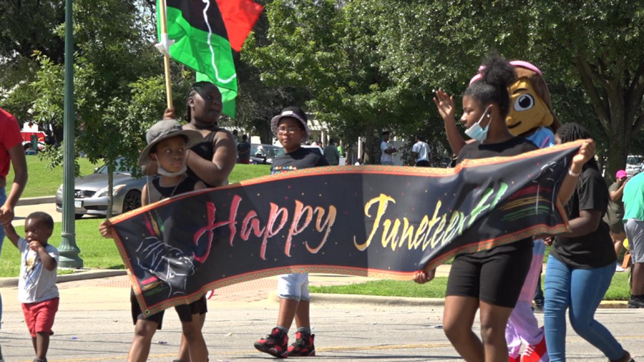 Waco Juneteenth parade 2021