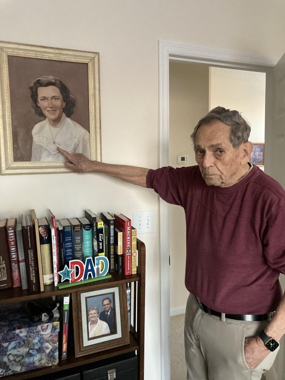Dad with Janet's Italian Portrait .jpg