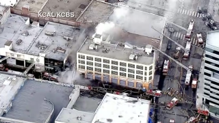 Fire, explosion in Los Angeles injures several firefighters
