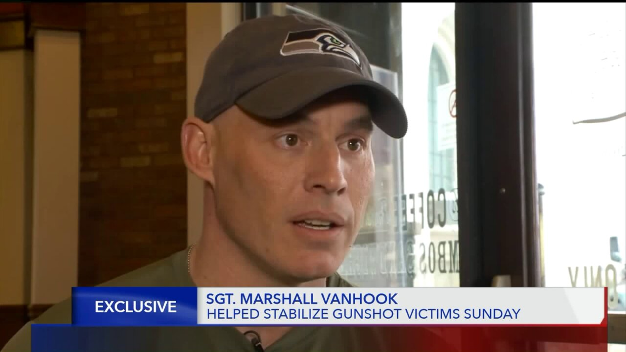 Army recruiter speaks on helping victim in Fashion Place Mallshooting