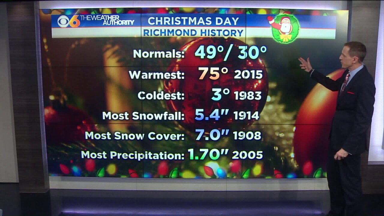 Just how common is a white Christmas inRichmond?