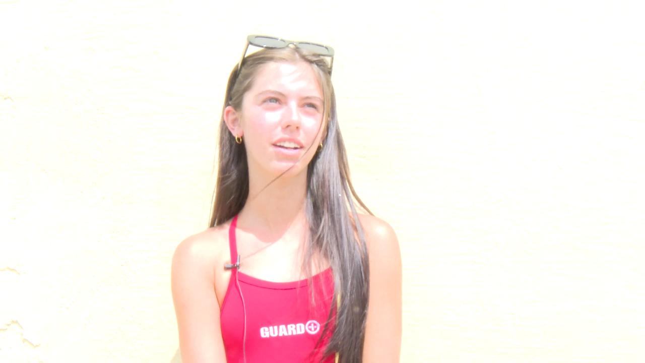 lifeguard Shelley Thompson